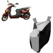 Kaaz Premium SILVER with BLACK Bike Body Cover For Hero Electric Bikes Electric Optima Plus
