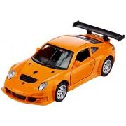 Jainson Innovador 1:43 Licensed Die Cast Porsche 911 Gt3 RSR Car with Pull Back Function, Orange