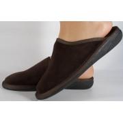 Papuci de casa maro din velur dama/dame/femei (cod 15-142002)