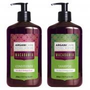Arganicare Kit Argan & Macadamia shampooing & après-shampooing cheveux secs et abîmés - 2x400 ml