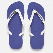 Havaianas Brasil Logo Flip Flops - Marine Blue - EU 43-44/UK 10-11 - Blue