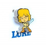 Lamparas Star Wars Para Pared 3d EP7 Mini Luke Skywalker Light Jedi-Multicolor