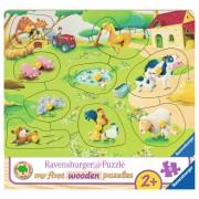PUZZLE DIN LEMN FERMA, 9 PIESE - RAVENSBURGER (RVSPC03683)