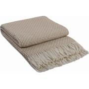 Patura lana merinos Valentini Bianco Rogojka densitate 385 g/m2 bej 140 x 200 cm