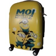 kidoz kingdom TRAVELLING TROLLEY BAG MINION 21 INCH 4 WHEEL Cabin Luggage - 21 inch(Multicolor)