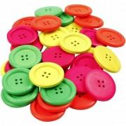 Merkloos Knopen in neon kleur 60 stuks