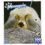 Menagerie 100 Piece Puzzle Otter Peek A Boo