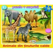 Puzzle - Animale din tinuturile calde (30 piese)/***