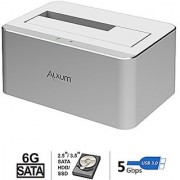[Support UASP] Alxum USB 3.0 to SATA External Hard Drive Docking Station for 2.5 or 3.5 HDD SSD SATA I / II / III and Support 8TB Drives Aluminium