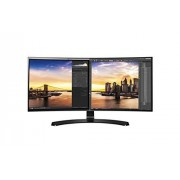 LG 34UC88-B 86,36 cm (34 inch) computermonitor QHD (3440*1440) UltraWide Cinema Screen Design in 21:9 formaat FreeSync, Game Mode, Screen Split, Thunderbolt en Black Stabilizer On Screen Control met muisklik en Dark Room Modus 6