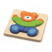 Drvene puzzle 4 dijela - medvjedić 50169