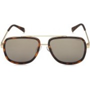 Polaroid Retro Square Sunglasses(Grey)