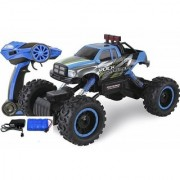 Emob Fully Functional Monster Pickup Truck Racing Rally Off-Road 4 Wheel Rechargeable Remote Control Rock Crawler Car Wi