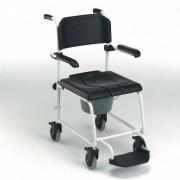 Invacare Chaise de douche mobile avec accoudoirs et repose-pieds relevables Invacare Cascade