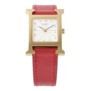 【USED】HERMES レザーベルト ウォッチ レッド ファッション > 腕時計~~レディース 腕時計