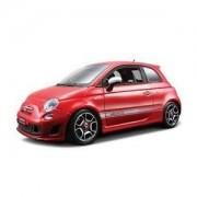 2008 Fiat Abarth 500 Red 1/18 Diecast Car Model