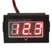 Vodotesný voltmeter červený (3.5-30V)