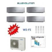 Daikin Kit Quadri Emura Silver 4mxm68m + 3 X Ftxj20ms Wi-Fi + Ftxj35ms Wi-Fi 7+7+7+12