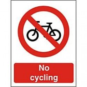 Unbranded Prohibition Sign No Cycling Plastic 40 x 30 cm
