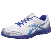 Reebok Men's Ree Scape Run White, Silver, Blue and Rbk Royal Running Shoes - 6 UK/India (39 EU)(7 US)