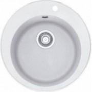 Chiuveta cu o cuva rotunda Franke ROG610 510x490x185 Material fragranite Alb