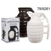 Cana ceramica grenada alb/negru