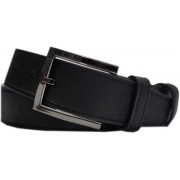 Luxe leren riem 95 cm zwart voor heren/dames - Lederen riemen - Basic/casual riemen voor volwassenen