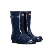 Hunter-Regenlaarzen-Boots Original Short Gloss-Blauw