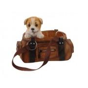 ProGarden Dekorace / držák na víno pes v kabelce jackrussell