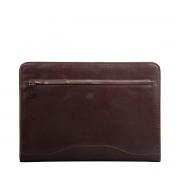 Leder Aktenmappe in Dunkelbraun - Aktentasche, Dokumententasche, Dokumentenmappe, Businesstasche