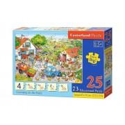 Puzzle educativ Numaram la Ferma, 98 piese