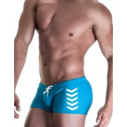 WildmanT Chevron Square Cut Trunk Swimwear Electric Blue WT-MESQ-CHEV