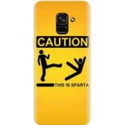 Husa silicon pentru Samsung Galaxy A5 2018 This Is Sparta Funny Illustration