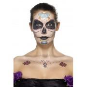 Kit machiaj Halloween Day of the dead floricele