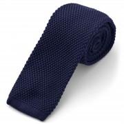 Tailor Toki Cravate bleu marine tricotée