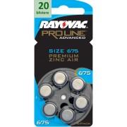 Rayovac 675 Proline Advanced Premium Zinc-Air - 20 blistere