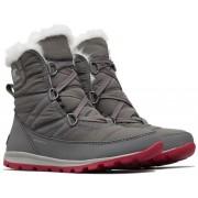Sorel ženske zimske cipele Whitney Short Lace Quarry Bright, sive, 38