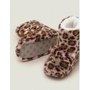 Mini Kreiderosa, Leopardenmuster Hausschuhstiefel Mädchen Boden, 28, Brown
