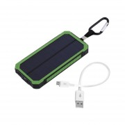 EY 300000MAH Waterproof Solar Power External Power Bank With LED Light For Mobile Phones With Cable For IPhone For Samsung-green