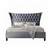 Dupla ágy, szürke-wenge, 180x200, ALESIA