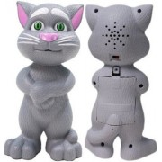 Intelligent Talking Tom Cat with Recording, Music, Story & Touch Functionality, Wonderful Voice with Stories & Songs White