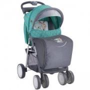 Детска количка с покривало Foxy - Green Grey Friends, Lorelli, 0740176