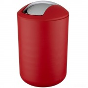 WENKO Koupelnový koš BRASIL, odpadkový koš,6,5 l,barva červená, WENKO