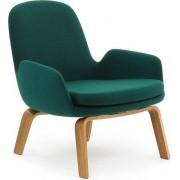 Normann Copenhagen Fotel niski Era na drewnianych nogach dąb Fame