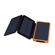 X-DRAGON XD-SC-001 Outdoor Wterproof 10000mAh Solar Power Bank Portable External Battery Charger - Orange