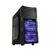 Кутия Antec GX200 Blue, ATX/mATX/miniITX, 2x USB 3.0, страничен прозорец, синя подсветка, черна, без захранване