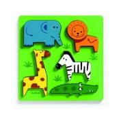 Drewniana układanka zwierzęta na łące, puzzle drewniane Kimi DJECO DJ01023
