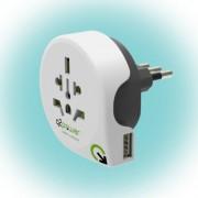 """Utazóadapter """"World to Italy USB"""""""