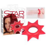 You2Toys Star Cock Ring Red 0507458