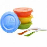 Комплект купички с капаци и лъжички, 12106 Munchkin, 5019090121064